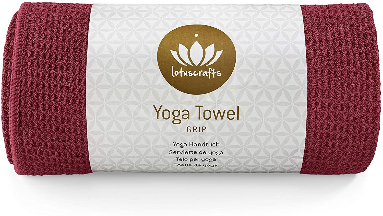 Lotuscrafts Toalla Yoga Antideslizante Grip - Antideslizante y de Secado Rápido - Manta Yoga Antideslizante - Toalla Microfibra Deporte - Toalla de...
